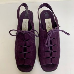 JONES NEW YORK Violet Lace Up Wedges
